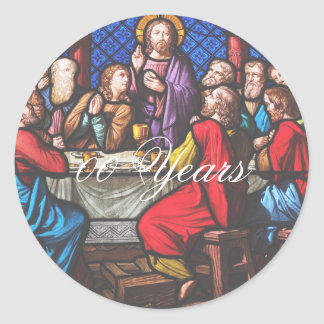 Adesivo Redondo O aniversário da classificação do padre edita anos