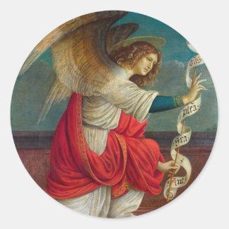 Adesivo Redondo O anjo Gabriel - Gaudenzio Ferrari