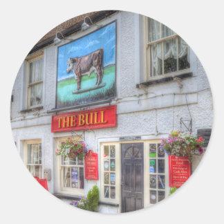 Adesivo Redondo O bar Theydon Bois de Bull