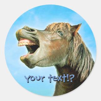 Adesivo Redondo O cavalo de riso