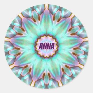 Adesivo Redondo O ~ de ANNA personalizou o ~ do Fractal da