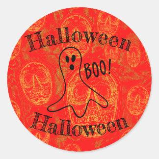 Adesivo Redondo O Dia das Bruxas - fantasma
