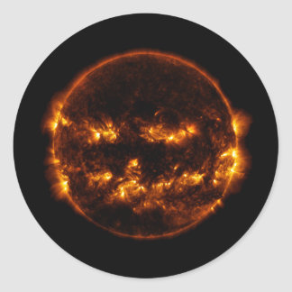 Adesivo Redondo O Dia das Bruxas Sun/Lanterna