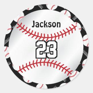 Adesivo Redondo O esporte | do basebol personaliza - a cor de DYI