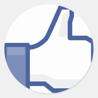 Adesivo Redondo o facebook GOSTA de me de manusear acima!
