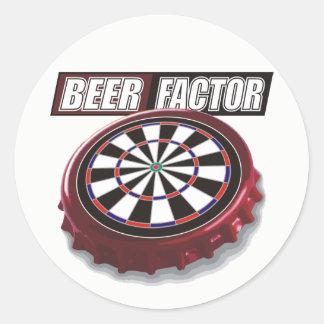 Adesivo Redondo O fator da cerveja arremessa a equipe
