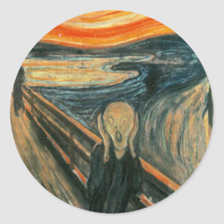 Adesivo Redondo O gritar Edward Munch gritar