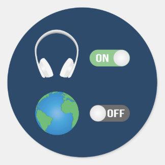 Adesivo Redondo O interruptor da música