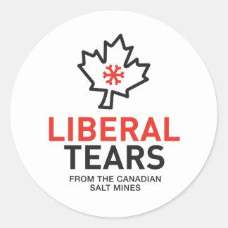 Adesivo Redondo O liberal rasga minas de sal Canadá