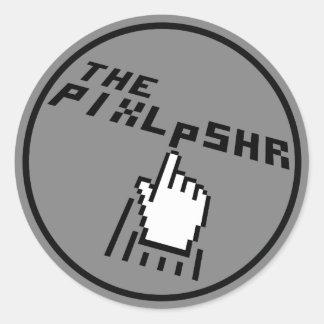Adesivo Redondo O logotipo de PixlPshr