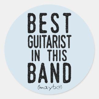 Adesivo Redondo O melhor guitarrista (talvez) (preto)