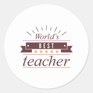 Adesivo Redondo O melhor professor do mundo