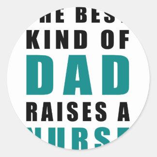 Adesivo Redondo o melhor tipo do pai aumenta uma enfermeira
