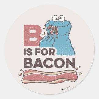 Adesivo Redondo O monstro do biscoito | B é para o bacon
