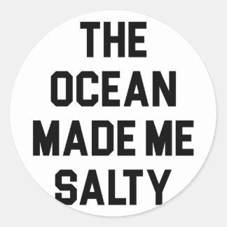 Adesivo Redondo O oceano fez-me salgado