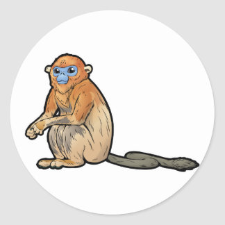 Adesivo Redondo O ouro Desprezo-Cheirou o macaco