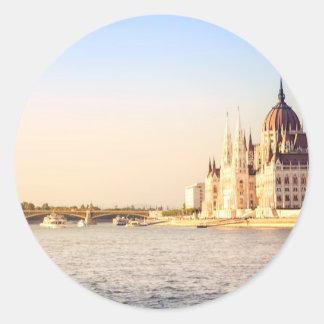 Adesivo Redondo O parlamento de Budapest