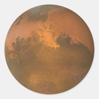 Adesivo Redondo O planeta vermelho Marte