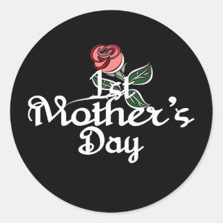 Adesivo Redondo O primeiro dia das mães especial da mãe