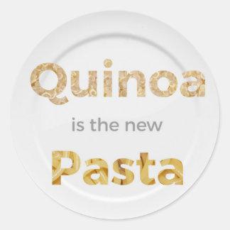 Adesivo Redondo O Quinoa é a massa nova