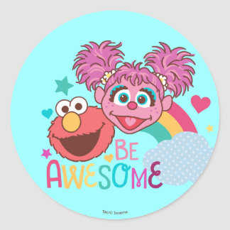 Adesivo Redondo O Sesame Street | Elmo & Abby - seja