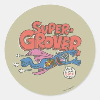 Adesivo Redondo O vintage de Grover caçoa 1