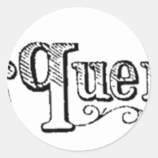 Adesivo Redondo O vintage nota e pergunta Typograph