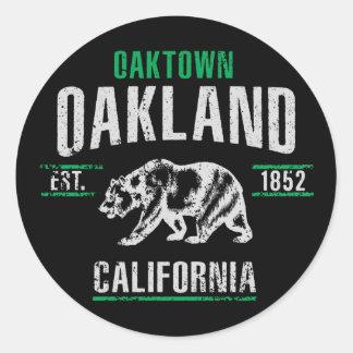 Adesivo Redondo Oakland