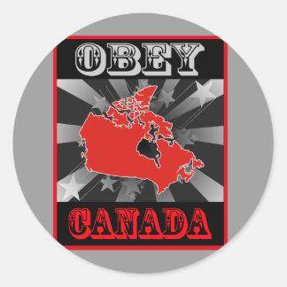 Adesivo Redondo Obedeça Canadá