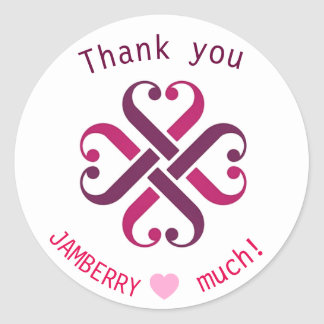 Adesivo Redondo Obrigado de Jamberry você selos de envio pelo