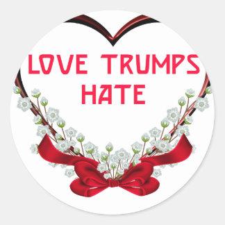 Adesivo Redondo ódio dos trunfos do amor