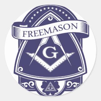 Adesivo Redondo Olho devista de Illuninati do Freemason