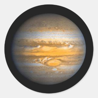 Adesivo Redondo Olho do planeta de Jupiter do espaço