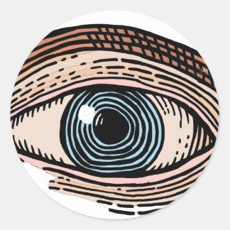 Adesivo Redondo Olho do providência (transparente)