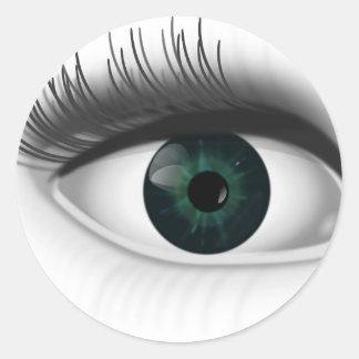 Adesivo Redondo Olho verde