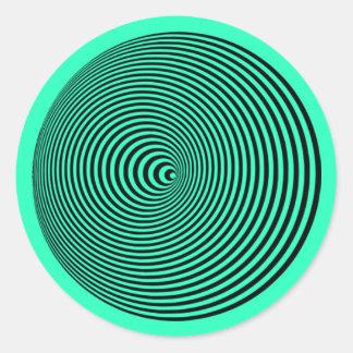 Adesivo Redondo Ondeamento do cone: Espiral do Hypnotic da ilusão