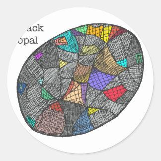 Adesivo Redondo Opal preto