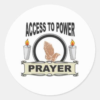 Adesivo Redondo oração o acesso ao poder