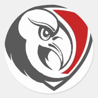 Adesivo Redondo Orgulho da águia americana