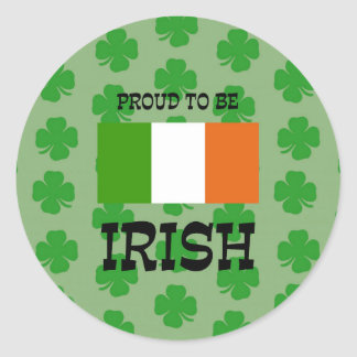 Adesivo Redondo Orgulhoso ser irlandês