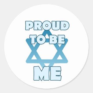 Adesivo Redondo Orgulhoso ser judaico