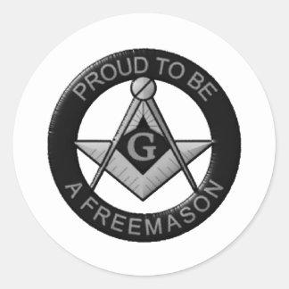 Adesivo Redondo Orgulhoso ser um Freemason