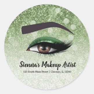 Adesivo Redondo Os chicotes glam verdes eyes o maquilhador de |
