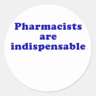 Adesivo Redondo Os farmacêuticos são indispensáveis