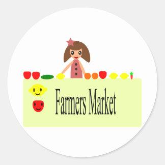 Adesivo Redondo Os fazendeiros introduzem no mercado 2,0 51Z