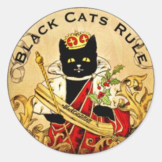 Adesivo Redondo Os gatos pretos ordenam o mundo real