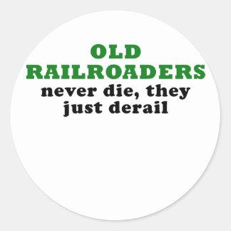 Adesivo Redondo Os Railroaders idosos nunca morrem eles apenas