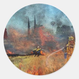 Adesivo Redondo Os sapadores-bombeiros são nossos heróis