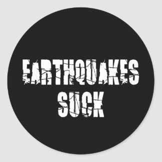 Adesivo Redondo Os terremotos sugam - o sobrevivente do terramoto