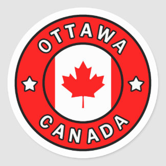Adesivo Redondo Ottawa Canadá
